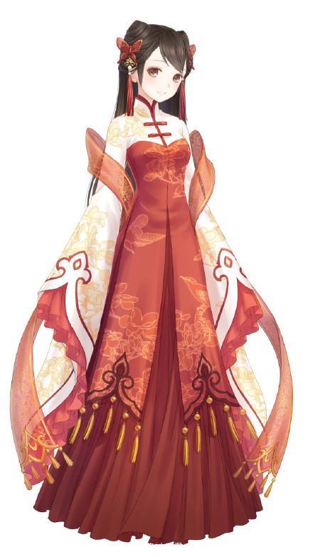 动漫现代古装衣服,二次元古风服装,美到炸天!