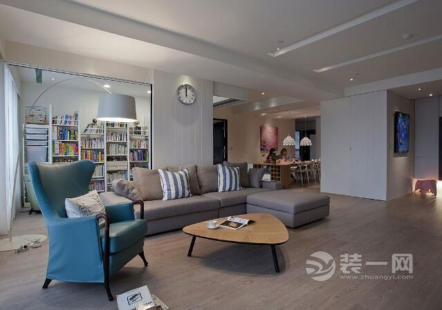 金融街漫香林,北欧风格大户型 北京金色漫香林180平米四室两厅装修