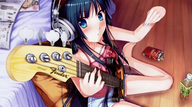 日本女生动漫照片大全图片,20张唯美吉他日本动漫少女萌图图片