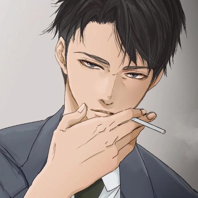 吸烟漫画图片,真心觉得男生抽烟的动作,很性感很帅气|抽烟动漫个性手绘男头