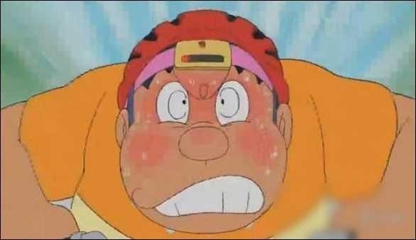 胖虎的爷爷暴漫图,《哆啦A梦》胖虎骑车戴安全帽被吐槽 颠覆角色设定!