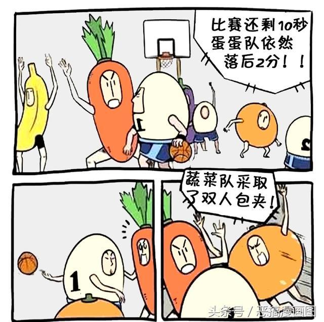 打篮球搞笑漫画图片,恶搞漫画:反败为胜的一场篮球赛