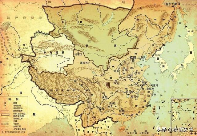 明朝疆域变化图,明朝疆域到底有多大?997万平方公里领土的真相是什么?