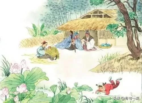 村居,辛弃疾《清平乐·村居》茅檐低小,溪上青青草,一家人幸福不过如此