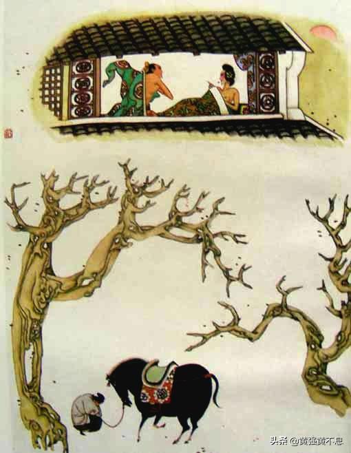 金瓶梅漫画版第13回,潘金莲戴了六个金戒指俗不可耐 《金瓶梅》的俗生活