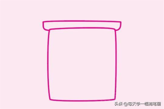回收垃圾桶图片漫画,每天学一幅简笔画-垃圾桶简笔画步骤图片画法