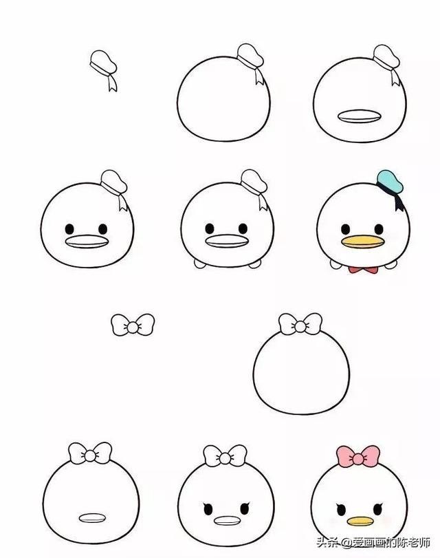 关于卡通动漫的图片简笔画图片,适合零基础画的简笔画,这些卡通形象你都认识吗?
