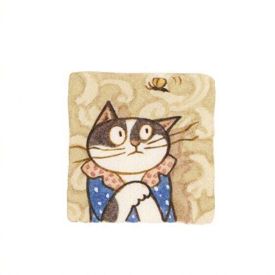 画师Eunyoung Seo 笔下的喵星人小头像,好可爱 乖乖的小猫咪-第4张图片-深圳宠物猫咪领养送养中心