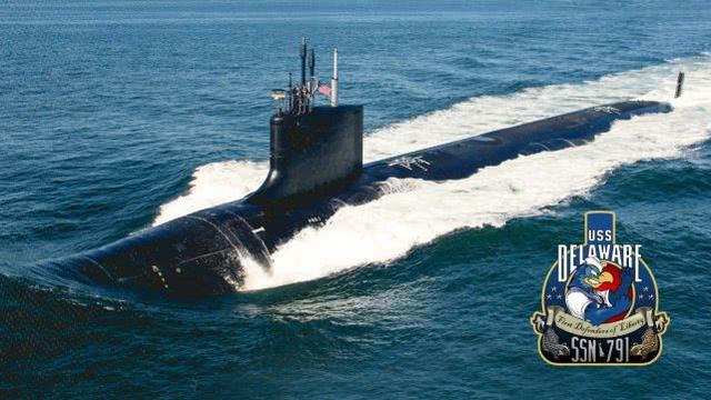 史上首次!美军最新攻击核潜艇为躲避疫情在水中举行服役仪式